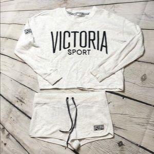 2 piece Victoria Secret Sport Shorts Set sz Med/Lg